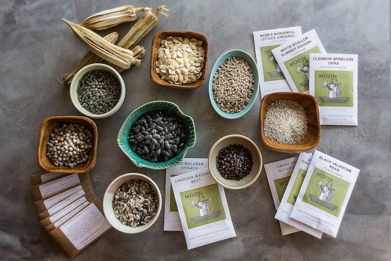 seed packets heirloom seeds gardening
